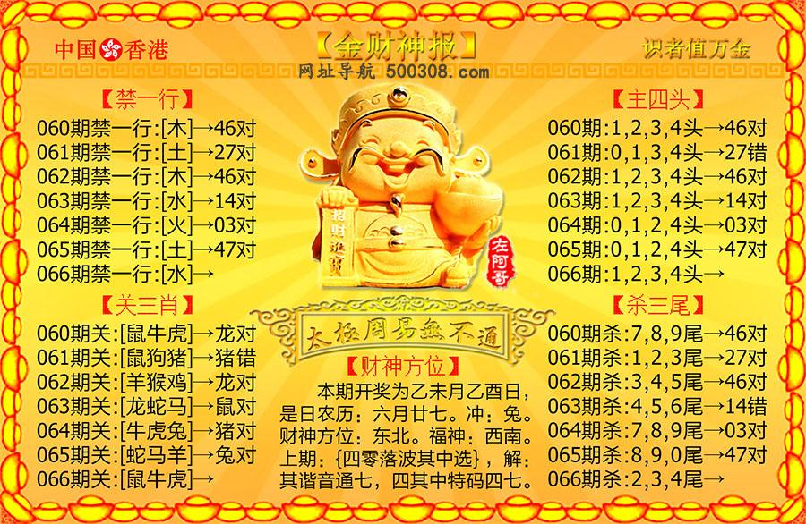 066期:金财神报
