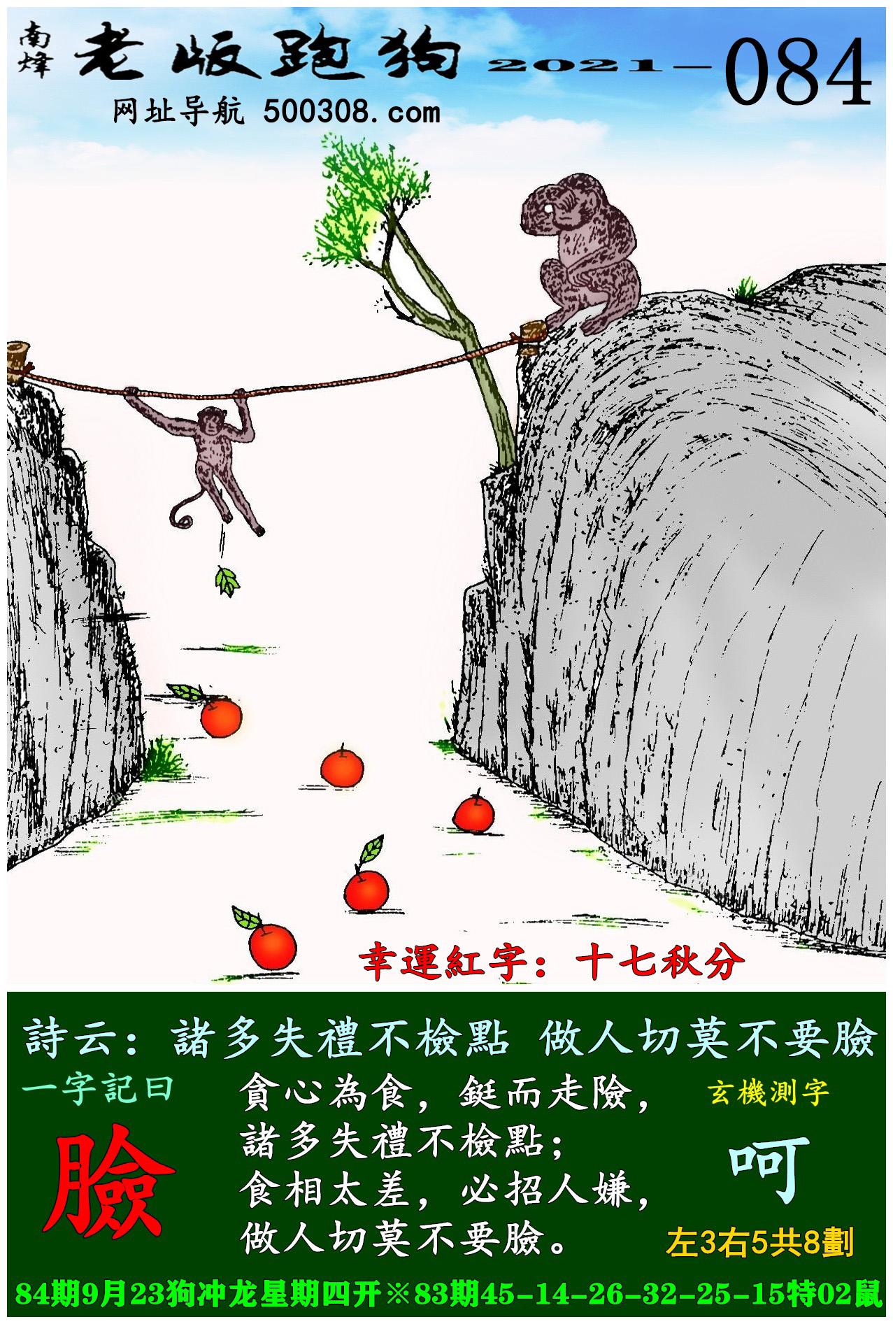 084期老版跑狗一字�之曰:【�】_��:�T多失�Y不�z�c,做人切莫不要�。