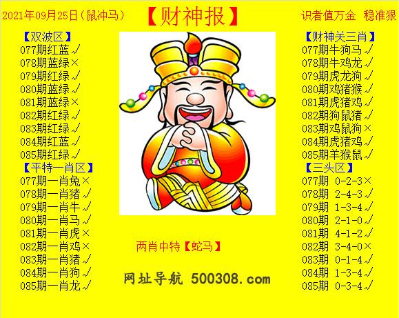 085期:黄财神报