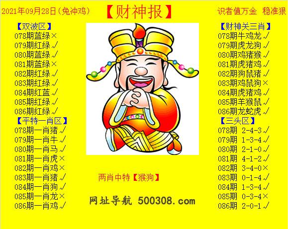 086期:黄财神报