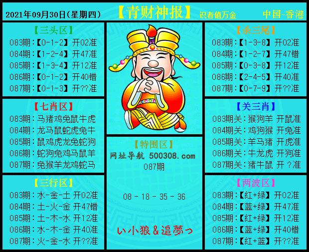 087期:青财神报