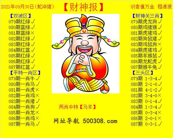 087期:黄财神报