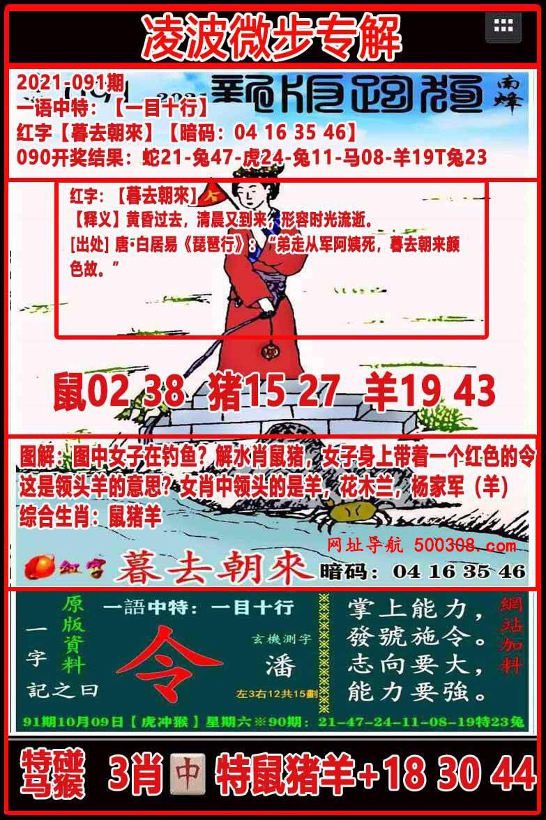 091期:凌波微步专解跑狗