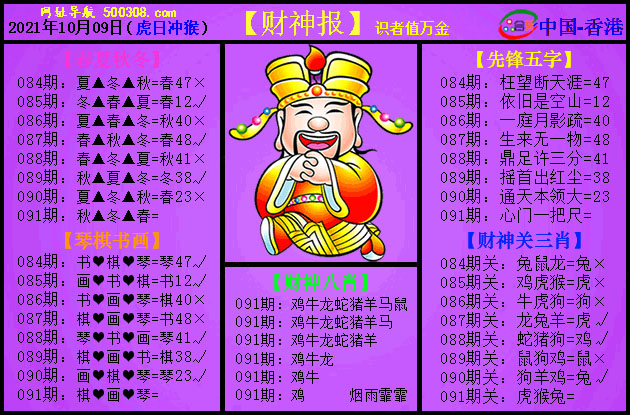 091期:紫财神报