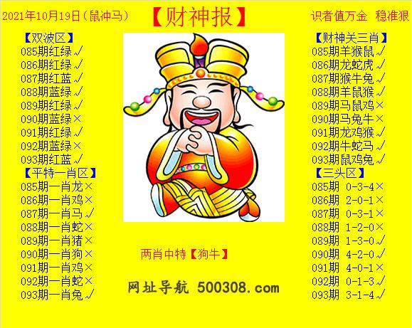 093期:黄财神报