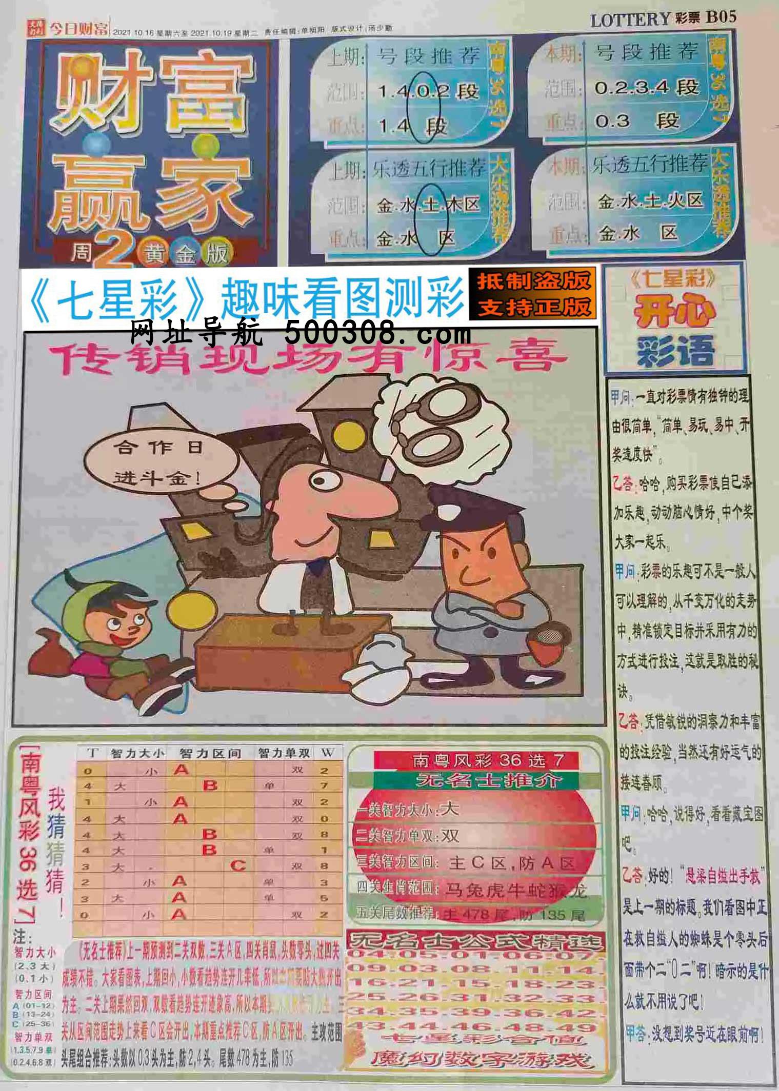 093期:彩民推荐:≮财富赢家≯→(七星彩图)