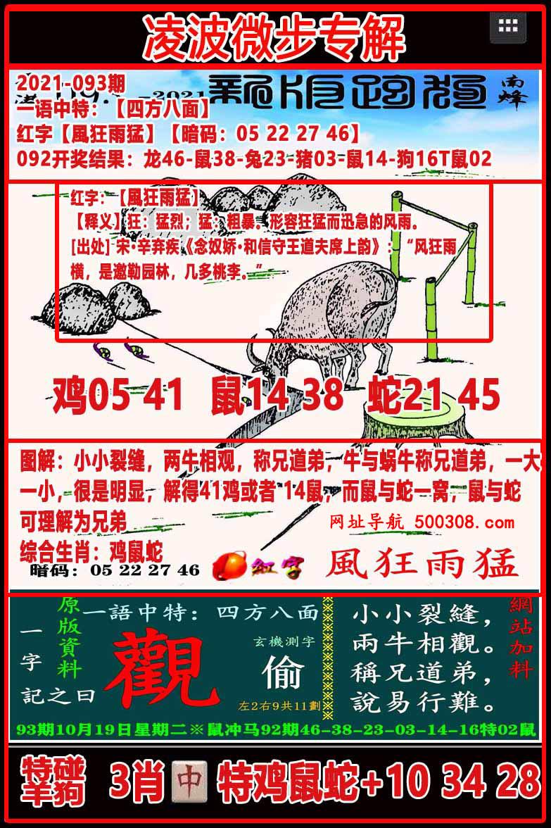 093期:凌波微步专解跑狗