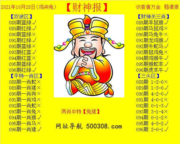 096期:黄财神报